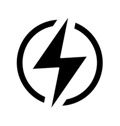 electric power sign glyph icon vector image