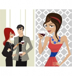 elegance party vector image vector image