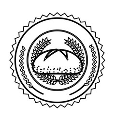 emblem breads symbol icon vector image