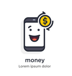 Emotion phone earnings money withdrawal vector