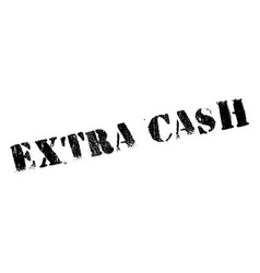 Extra cash rubber stamp vector