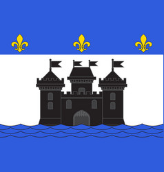 Flag of bellac in haute-vienne of vector