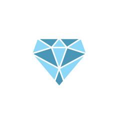 Gemstone crystal diamond logo symbol design vector