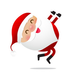 happy christmas character santa claus cartoon 021 vector image