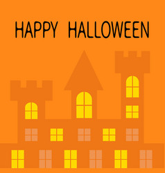 Happy halloween haunted house shadow dark castle vector