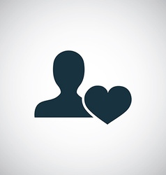 Heart profile icon vector