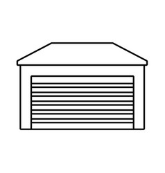 home garage isolated vector image