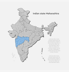 India country map and maharashtra state template vector