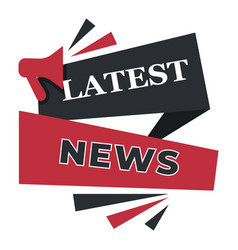 Latest news announcement banner with stripes vector
