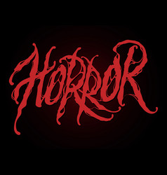 lettering horror vector image