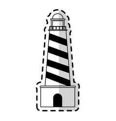 Lighthouse nautical icon image vector