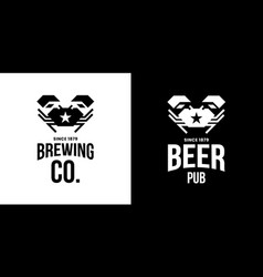 Modern craft beer drink isolated logo vector