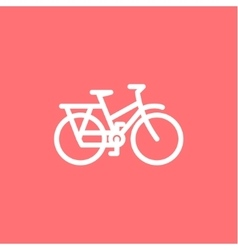 Mountain Bike Icon on a pink background high vector