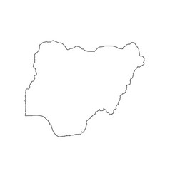 Nigeria map silhouette vector