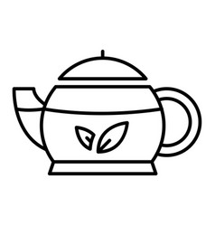 oriental teapot icon outline style vector image