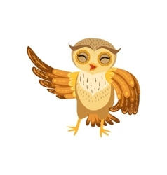 Owl Laughing Cute Cartoon Character Emoji With vector image