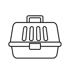 Pet carrying case isolated icon vector