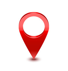realistic detailed 3d red map pointer pin vector image