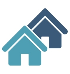 Realty icon from Business Bicolor Set vector image