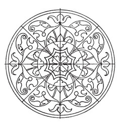 Renaissance circular panel is found in a church vector