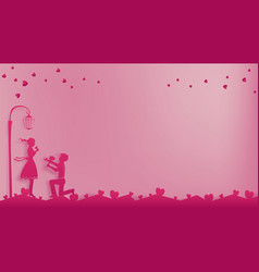 Romantic concept of valentines day vector