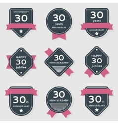 Set of anniversary banners vector