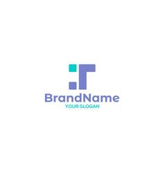 Simple t tech logo design vector