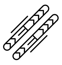 ski equipment icon outline style vector image