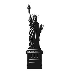 statue liberty american symbol vector image