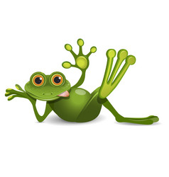 Stock thick frog resting vector