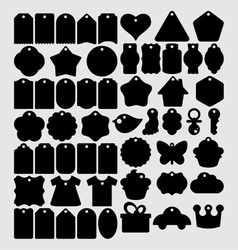Tags Craft Shapes vector