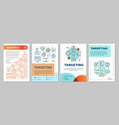 Targeting brochure template layout flyer booklet vector