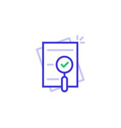 Thin line compliance color logo vector