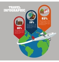 Travel and infographic design vector