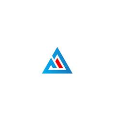triangle shape line business design logo vector image