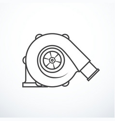 Turbocharger isolated vector