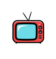 tv icon cartoon isolated on vector image