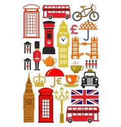uk icon set vector image