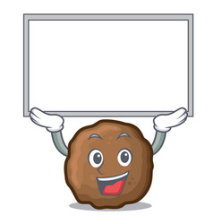 Up board meatball character cartoon style vector