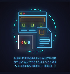 Web design neon light concept icon vector