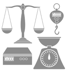 Weighind Scales Icons vector