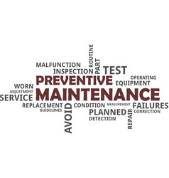 word cloud - preventive maintenance vector image
