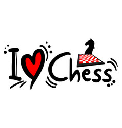 chess love vector image vector image