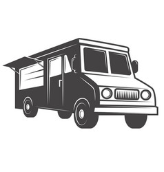 food truck emblem isolated on white background vector image vector image