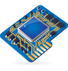 Icon of chipset vector image vector image