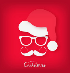 image of santa claus with a stylish mustache vector image vector image