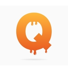 Letter Q logo or symbol icon vector image