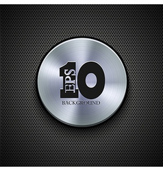 metal icon on metal background Eps10 vector image