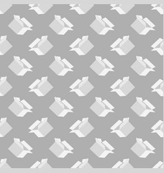 Open paper boxes seamless pattern vector