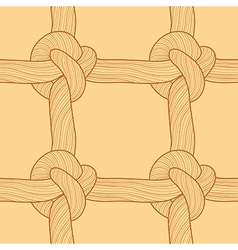 Rope and knots seamless pattern vector image vector image